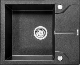 Deante Zlewozmywak 1-komorowy z krótkim ociekaczem Andante szary metalik ZQN S11A