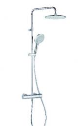 Zestaw prysznicowy KLUDI Freshline z deszczownicą z baterią termostatyczną chrom (6709205-00)