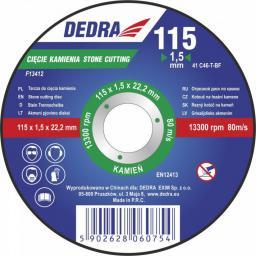 Dedra Tarcza 125x1,5x22,2mm do cięcia kamienia   - F13422
