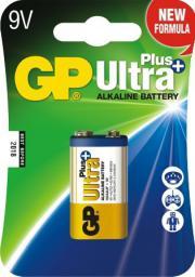 GP Bateria ULTRA+ ALKALINE 9V 6LF22 - 1604AUP-U1