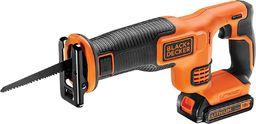 Black&Decker System 18V (Pilarka szablowa 18V, akum. Li-Ion 1.5Ah, 0-3000 suw/min, dł.skoku brzeszczotu 22mm, beznarz. wymiana brzeszczotu, brzeszczot 15cm 6TPI, ładowarka 400mA) - BDCR18-QW