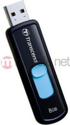 Pendrive Transcend JetFlash 500 8GB Czarno-niebieski