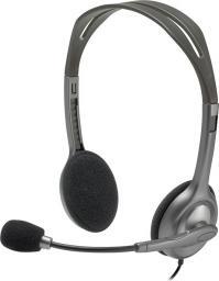 Słuchawki z mikrofonem Logitech H110 Stereo (981-000271)