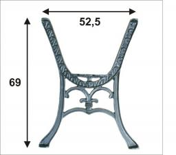 Noga do stolika CHINKA komplet 2szt.