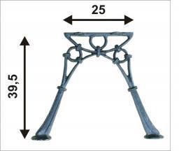 Noga żeliwna do ławki bez oparcia MINI 2 deski