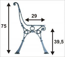 Noga do ławki lekka nr 1  C 4 deski