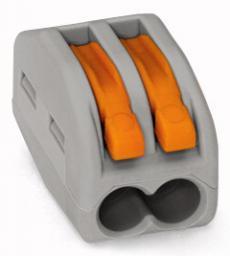 WAGO Złączka instalacyjna 2-przewodowa z dźwignią zwalniającą (222-412)