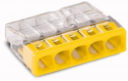 WAGO Złączka Compact 5-przewodowa transparentna / żółta (2273-205)
