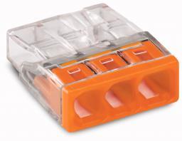 WAGO Złączka Compact 3-przewodowa transparentna / pomarańczowa (2273-203)