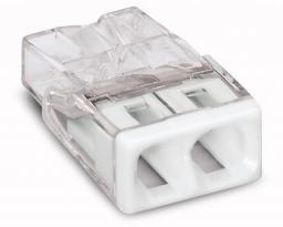 WAGO Złączka Compact 2-przewodowa transparentna / biała (2273-202)