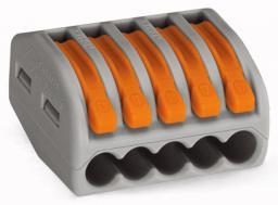 WAGO Złączka instalacyjna 5-przewodowa z dźwignią zwalniającą (222-415)