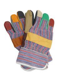 Reis Rękawice RLKPAS wzmacniane skórą bydlęcą różnokolorowe (SK 213)