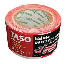 Reis Taśma ostrzegawcza biało-czerwona 70mm 200mb