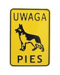 Tablica 15x20cm Uwaga Pies! - M P23