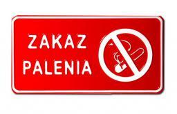 Tablica 15x29cm Zakaz Palenia - C7