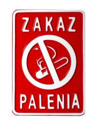 Tablica 15x20cm Zakaz Palenia - D2