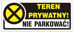 Naklejka Teren Prywatny! Nie parkować! (TBI-15N)