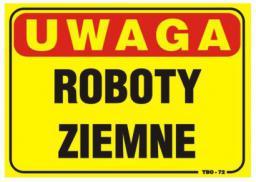 Tablica 35x25cm UWAGA! Roboty Zimowe - T010
