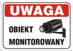 Tablica 25x17,5cm UWAGA! Obiekt Monitorowany (TBI-28)