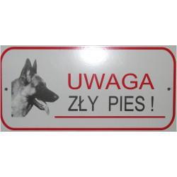 Tablica ostrzegawcza Uwaga Zły Pies!