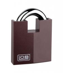 LOB Kłódka zasuwkowa wzmocniona z chronionym pałąkiem 3 klucze KW02