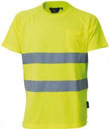 VIZWELL Koszulka ostrzegawcza T-Shirt żółty XXL