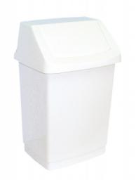 Kosz na śmieci Curver Click-It uchylny 15L biały (BHP HIC 2026)