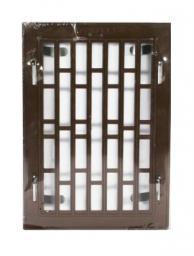 Kratka plastikowa z ramka metalową 14x21cm brązowa