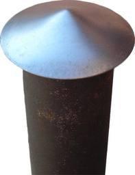 Daszek metalowy na słupek ogrodzeniowy 60mm