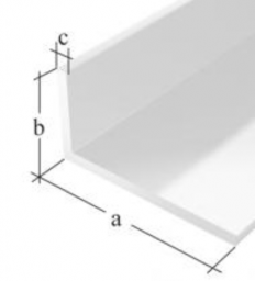 GAH Profil kątowy PVC biały 2000x40x10x2,0mm 1szt. (479374)