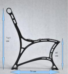 Noga aluminiowa do ławki królewska  6 desek  kpl. 2szt.