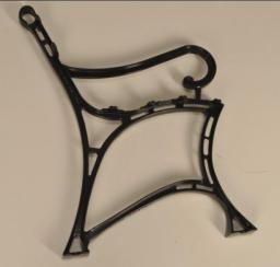Noga aluminiowa do ławki  królewska z połokietnik kpl. 2szt.