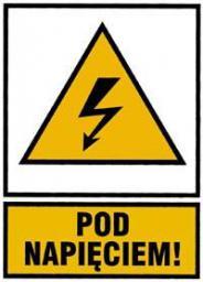 Onnline Tablica ostrzegawcza samoprzylepna POD NAPIĘCIEM! 105x140mm - NO105X148PN