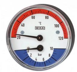 "Wika Termomanometr WP63T 1/2"" 63mm 0,6MPa/120 stopni - 7347043"