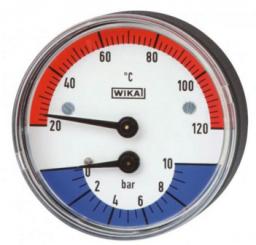 "Wika Termomanometr WP80T 1/2"" 80mm 0,4MPa/120 stopni - 7347468"