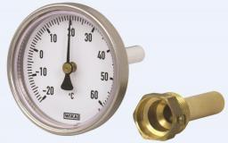 """Wika Termometr bimetaliczny obudowa ocynkowana 1/2"""" 100mm 0-160 stopni - 12542769"""
