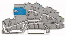 WAGO Złączka TopJobs 2-piętrowa z łącznikiem suwakowym NT/L.PE 42,3x96mm szara (2003-7641)