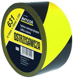 Anticor Taśma ostrzegawcza 631 żółto-czarna 50mm 33m