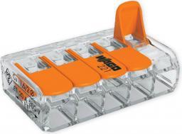 WAGO Złączka uniwersalna 5x4mm2 przezroczysto pomarańczowa z dźwigniami (221-415)