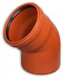 KACZMAREK Kolano kanalizacji zewnętrznej PP z uszczelką 110x15mm SN8 0710203330