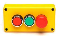 Promet Kaseta sterownicza 3 przyciski 1NO 1NC żółto-szara T0-P3EC1A2B-E30