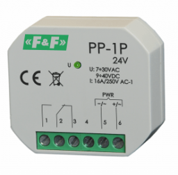 F&F Przekaźnik elektromagnetyczny 1P 16A P/T - PP-1P 24V