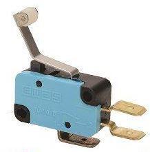 Promet Mikroprzełącznik zestyk przełączny 1NO+1NC dźwignia podgięta z rolką z tworzywa - T0-MK1MIP3