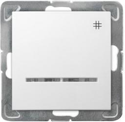 Ospel Łącznik krzyżowy Impresja z podświetleniem biały (ŁP-4YS/m/00)