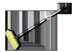 Bradas Szczotka samochodowa NEW-PROFI teleskop 250cm krótki zawór (ES2355)