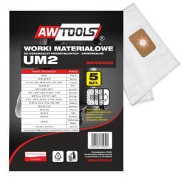 Worek do odkurzacza AWTools z mikrowłókniny UM2 MAKITA VC2010/2511/2512/445/446 5szt. (AW00402)
