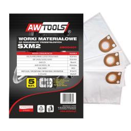 Worek do odkurzacza AWTools z mikrowłókniny SXM2 GAS25/STARMIX 5szt. (AW00401)