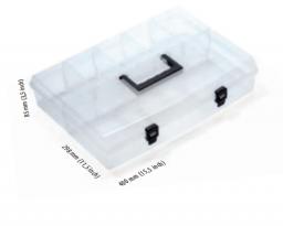 Prosperplast Organizer plastikowy 400 x 298 x 85mm transparentny (NUN16)