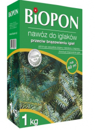 BIOPON Nawóz granulowany do iglaków przeciwko brązowieniu igieł 1kg (1055)
