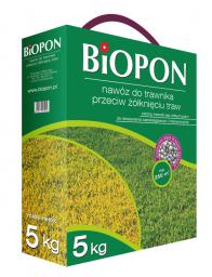 BIOPON Nawóz granulowany do trawnika przeciw żółknięciu 1kg (1175)